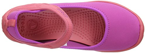 Crocs Duet Busy Day Gs, Mary Jane femme Violet (Vibrant Violet/Coral)