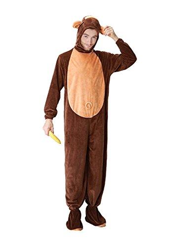 Tierkostüm Affe Cosplay Kostüm Fasching Cosplay Karneval Kostüm Herren M