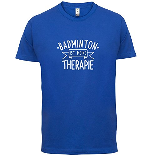 Badminton ist meine Therapie - Herren T-Shirt - 13 Farben Royalblau