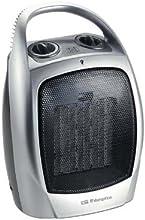 Orbegozo CR5016 - Termoventilador vertical, cerámico, 1500 W, 2 posiciones, aire frío, termostato, con asa, color plata