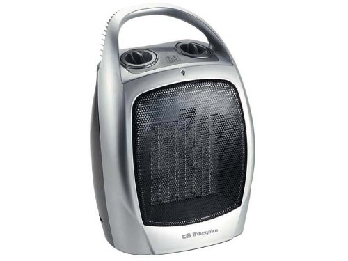 Orbegozo CR 5016 – Calefactor cerámico con función ventilador, 1500 W de potencia, 2 niveles de funcionamiento