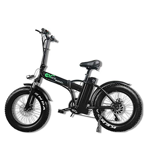 "SC Elektro-Faltrad Fat Tire 20 * 4""mit 48V 500W 15Ah Lithium-Ionen-Akku, City Mountainbike Booster 100-120KM"
