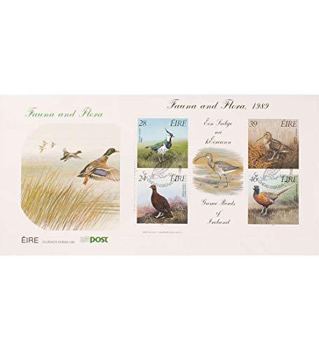 Goldhahn Irland Block 7 FDC Ersttagsbrief Vögel Briefmarken für Sammler -