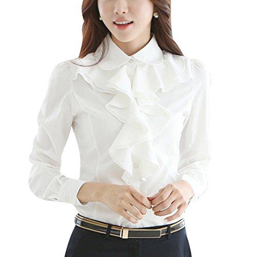 skyblue-uk Damen Bluse Gr. XL, weiß -