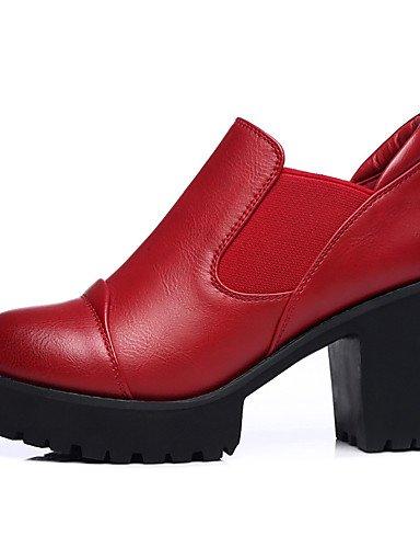 WSS 2016 Chaussures synthétique de bureau talons printemps / automne / hiver des femmes&carrière / casual gros talon paillettes scintillantes black-us8 / eu39 / uk6 / cn39