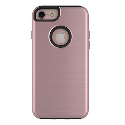 Einfache gebürstete Textur 2 in 1 PC + TPU Kombination Schutzhülle für iPhone 6 Plus & 6s Plus by diebelleu ( Color : Army green ) Rose gold