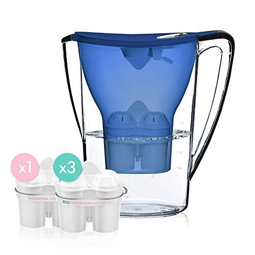 krug, sauberes Wasser 1,5 l Zink-Magnesium-Ionen-Filter, tragbarer Haushaltswasserreiniger,Blau ()