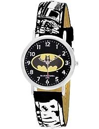 Batman BT11480-217 - Reloj analógico de cuarzo para niño, correa de cuero bicolor