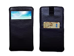 ATV PU Leather black Designer Pouch Case Cover With Puller For Samsung Galaxy S7 edge (CDMA)