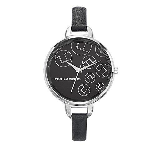 Ted Lapidus A0643RNNN - Reloj de pulsera mujer, piel, color negro