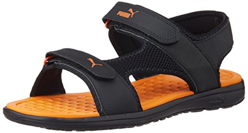 673997b6aab9 Puma 18883103 Unisex Cydon Dp Black And Orange Rubber Sandals And Floaters  10 Uk- Price in India