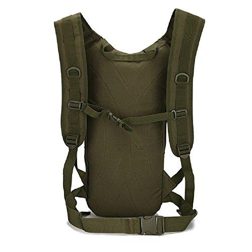 Camouflage idratazione multifunzione Outdoor pacchetto alpinismo borse tattico militare Zaino Zaino da Ciclismo, Black ACU Digital