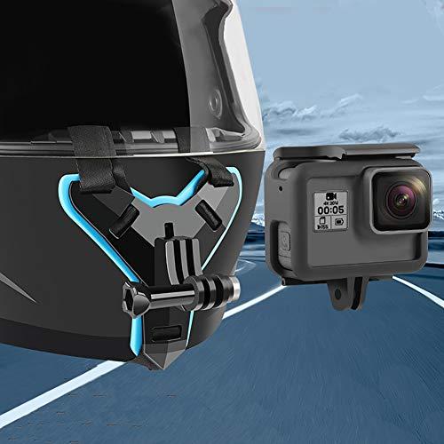 Especificaciones:        Tipo: Montura para cámara de acción de casco         Material: PC, silicona, nylon         Color: Negro         Compatible modelos: adecuados para GoPro Hero 7/5, para Xiaoyi         Otras características: antideslizante, ...