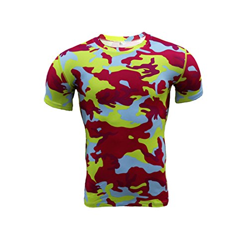 a35e5fc709a2f Fuyingda Hommes Hot Chemise à Manches Courtes Fitness T-Shirt T-Shirt Sport  Top