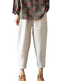 6d5a810769 Amazon.it: pantaloni bianchi donna - 3XL / Pantaloni / Donna ...