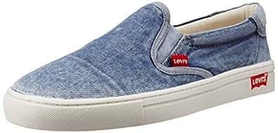 Levi's Men's Commuter Blue Rubber Sneakers - 6.5 UK/India (40 EU)