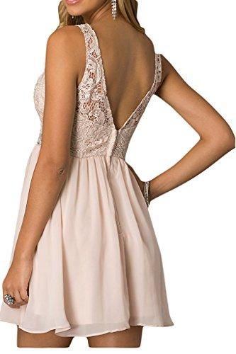 """Donna Ivydressing lieb Ling""""sassi A-linea Chiffon & punta, cocktail dell'abito dal giovane sposa vestito da sera abiti da festa rosso vivo"""