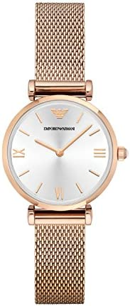 Emporio Armani Gianni T-Bar Women's Silver Dial Stainless Steel Analog Watch - AR