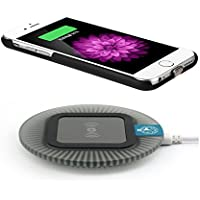 Antye® Qi Wireless Ladegerät für iPhone 6 6S(4.7 Zoll)【Drahtlos ladegerät lade pad+ Wireless Charging Receiver】 (Schwarz+Schwarz)
