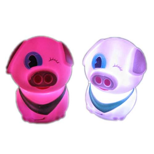 Nachtlicht Kzfs 10 Stück Bunte Kleine Nacht Licht Spielzeug Cartoon Farbe Farbverlauf Farbe Batterie Licht Flash Weizen Schweinchen - Spielzeug Elektronische Pokemon