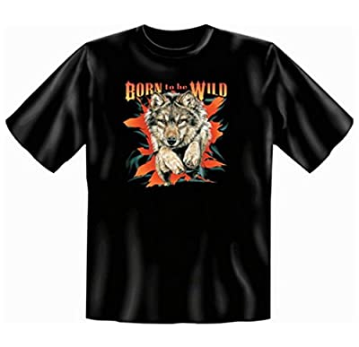 Biker moto Tshirt Born to be Wild FB Noir