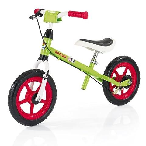 """Kettler Laufrad Speedy """"Emma"""" – Farbe: Grün und Rot – Reifengröße: 12,5 Zoll, ab 2 Jahren geeignet – das ideale Lauflernrad – maximale Sicherheit – Artikelnummer:"""