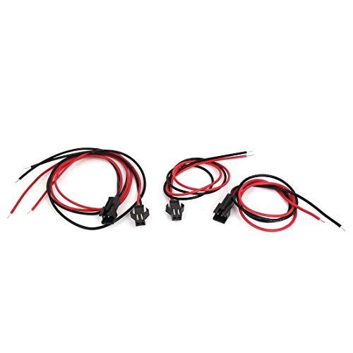 Miki&Co 2 Paar 2 Terminals Stecker-Buchse EL Draht Kabel Jumper Kabel 300mm Lang DE -