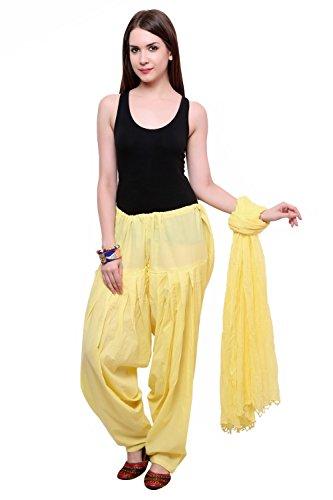 Pistaa Lemon Yellow Full cotton Patiala Salwar With Dupatta Bottom