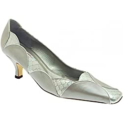Renata Women's Low Heel Court Shoe 4 Grey