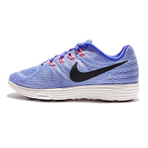 Nike Wmns Lunartempo 2 Lb, Chaussures de Running Entrainement Femme Aluminum/Black-paramount Blue