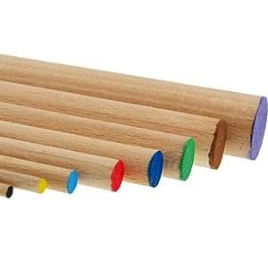 Baguette ronde en bois poncé, nature - diamètre 20mm, longueur 100cm