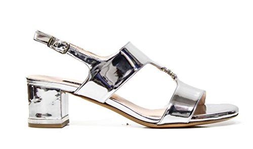 Sandalo Elegante Albano 4336 argento specchio