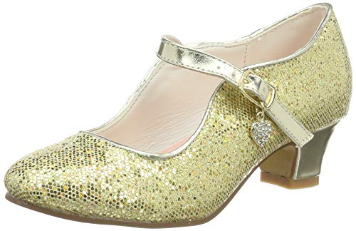 La Señorita Zapato Elsa Anna Frozen oro corazón