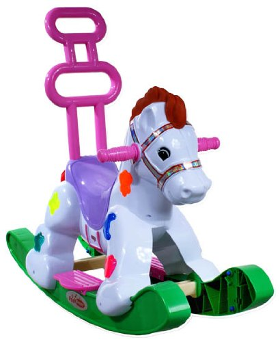 Rocking Horse Modell ARTI B2078 Rocking Pony Green – wheels, safety seat, handle, Rocker, Swing, Bounce 41ru2FEvBwL