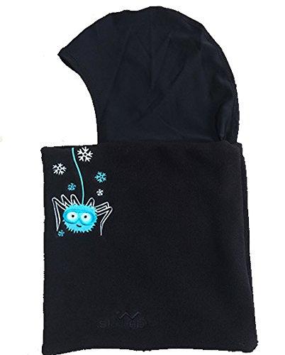 Skiweb Sturmhaube für Kinder. 3-7Fleece Hals Tube mit seidig Kopf Cover