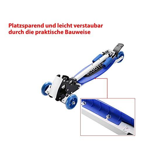 Scooter für Kinder, Kickboard, Tretroller, Klappbarer Roller, Leicht verstaubar, Vierrad, Neu -