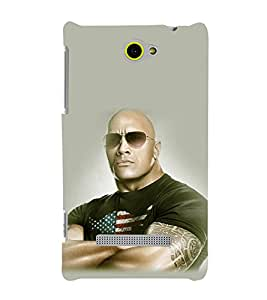 printtech WWE Bull The Rock Back Case Cover for HTC Windows Phone 8S