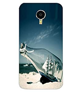 ColourCraft Creative Bottle Image Design Back Case Cover for MEIZU M3 NOTE