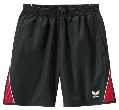 Erima Xetra Line Herren Short - Größe 8 - schwarz/rot/weiß