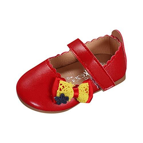 Warme Schuhe FüR Baby MäDchen Kinder Kid Rabbit Bowknot Leder Wave Princess Single Casual Schuhe