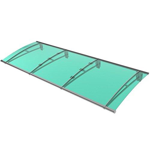 Homelux DCY270.gruen Vordach, formschöne Konstruktion aus Aluminium und Kunststoff, 270 x 95 cm