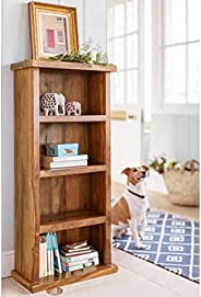 MP Enterprieses Sheesham Wood Bookshelf and Display Rack for Study and Living Room (Brown)