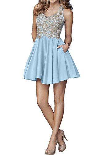 Ivydressing - Robe - Trapèze - Femme bleu ciel