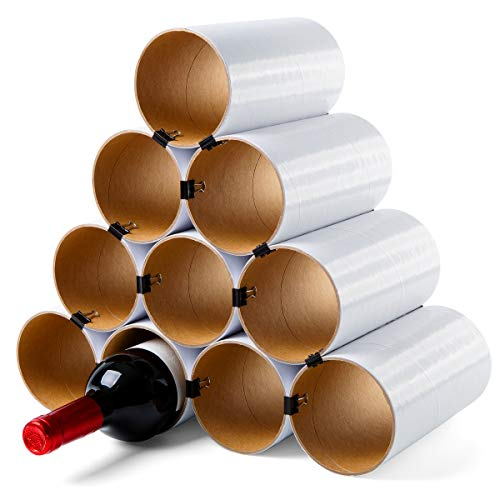 corpus delicti :: Weinheim - Flaschenregal - Weinregal - Basisversion für bis zu 19 Flaschen - erweiterbar (10 Hülsen weiß)