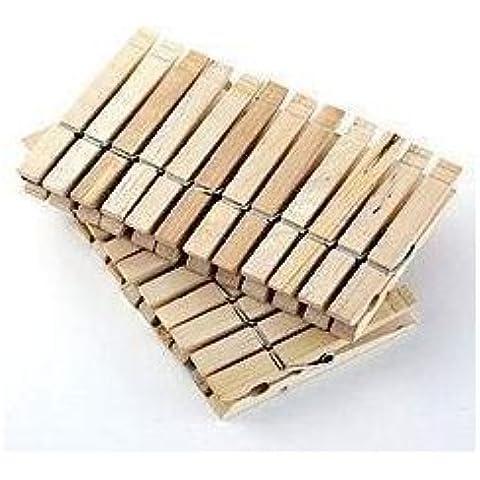 96 mollette per bucato in legno