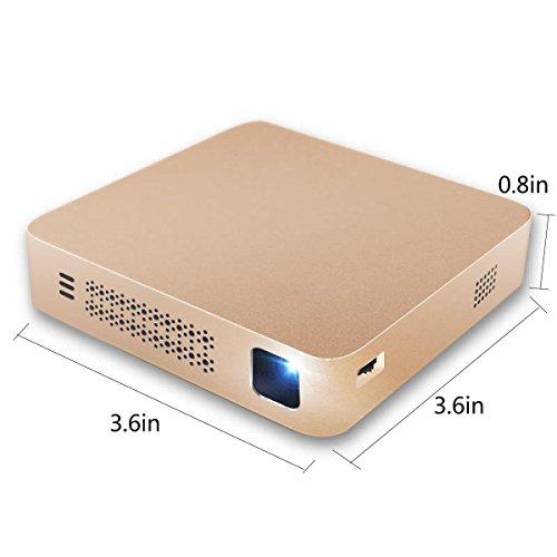 Präzision Abstriche (Projektor Mini Home Smartphone Projektor Tragbarer Projektor HD)