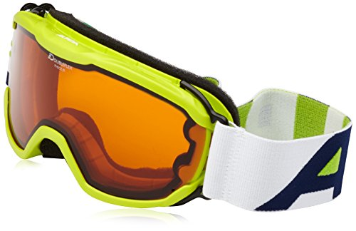 ALPINA Kinder Pheos Jr. Skibrille, Lime, One Size