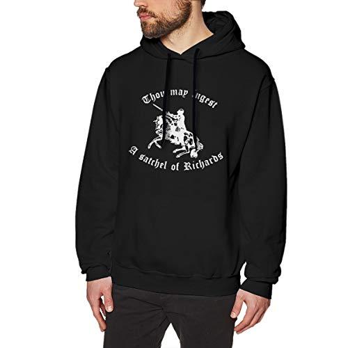 Liteschi Herren Mode Thou May Ingest A Satchel of Richards 1 Sweater Mit Creative Printed Mens Sweatshirts Black XL -