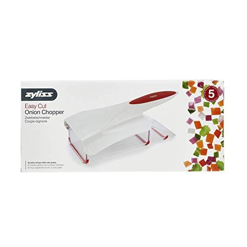41ru8g2QaqL. SS500  - Zyliss Onion Chopper, White and Red