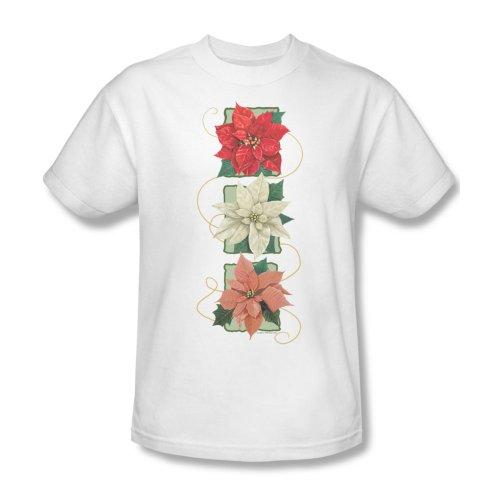 Maglietta da uomo, motivo: stelle di Natale, colore: bianco Bianco